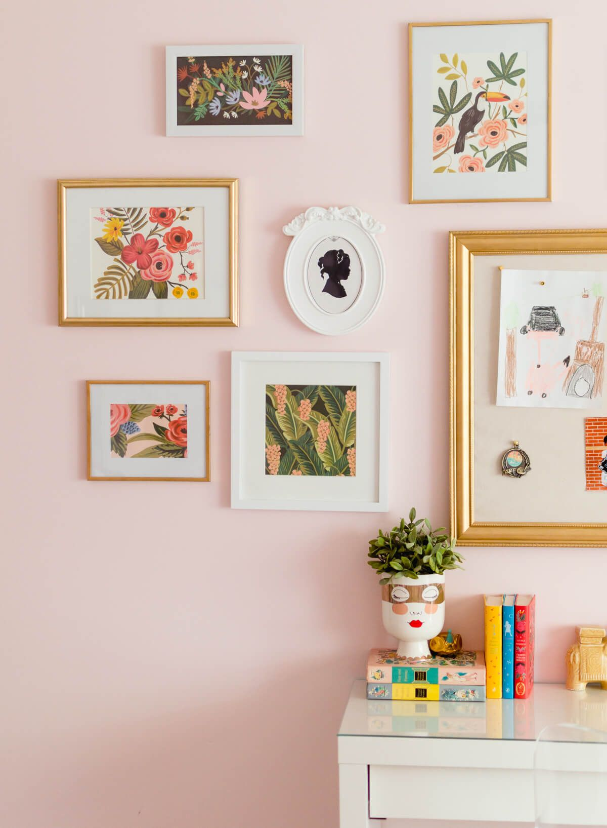 Gallery Wall Inspired By The Colors Of Wes Anderson The