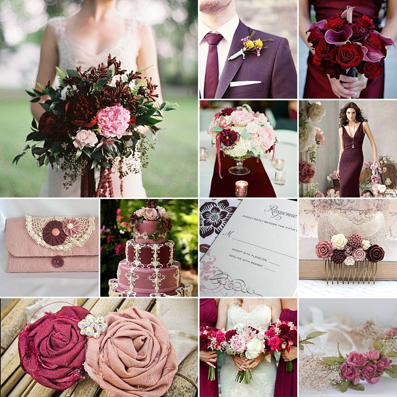 Pink And Burgundy Weddings Burgundy Wedding Pink And Burgundy Wedding Burgundy Wedding Centerpieces