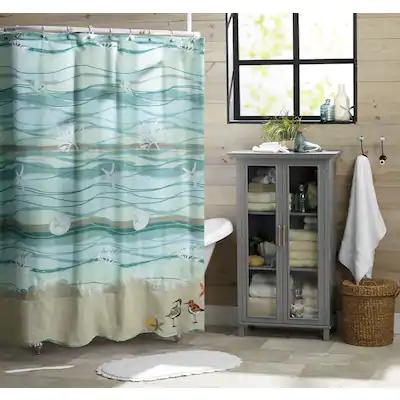 shower curtain - fabric, vinyl, long, unique   country