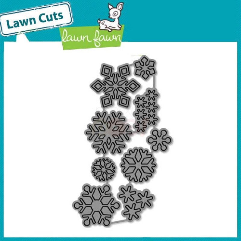 Lawn Fawn Lawn Cuts Cutting Die Set ~ LARGE STITCHED SQUARE STACKABLES ~ LF837