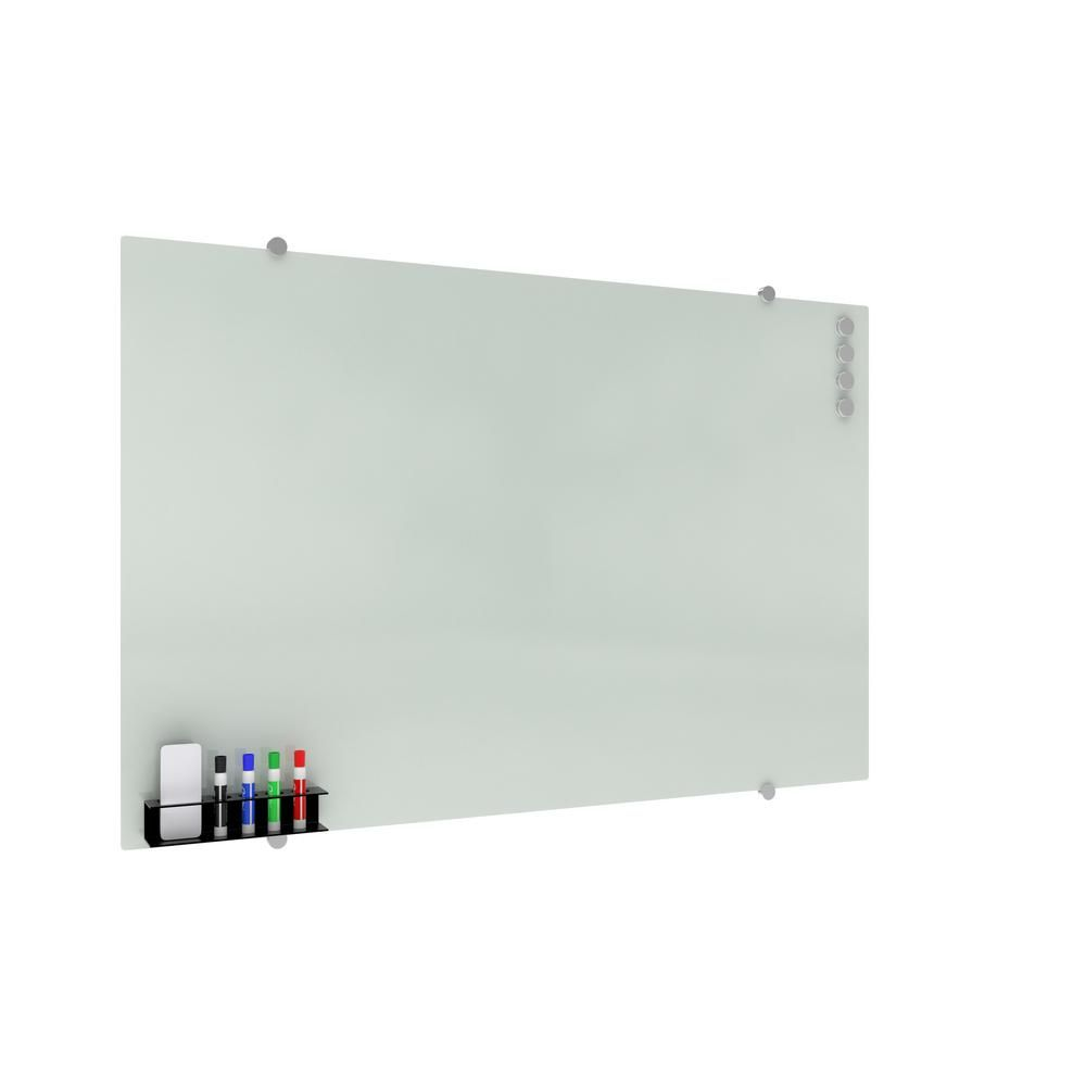 Ofm Core Collection Magnetic Glass Whiteboard With Magnetic Marker Caddy 47 X 30 Gb4730 Rec Wht Gb4730 Rec Wht The Home Depot In 2020 Ofm White Board Magnetic White Board