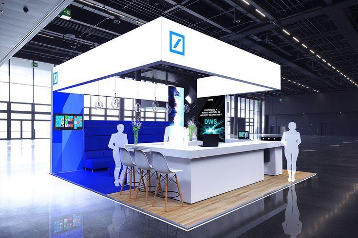 Deutsche Bank Exhibition Point in Behance 3d Fuar Stand