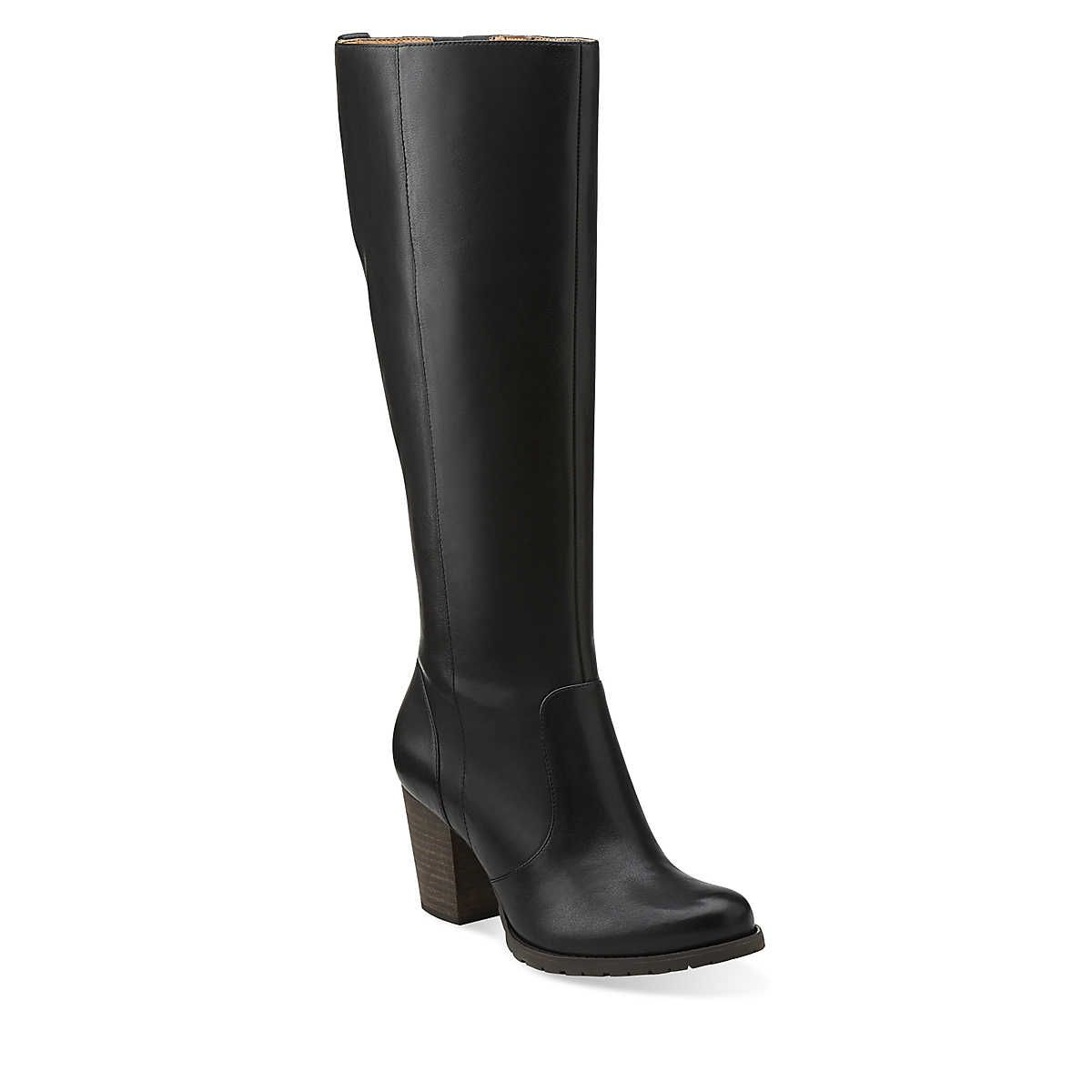 Mission Brynn in Black Leather - Womens Boots from Clarks