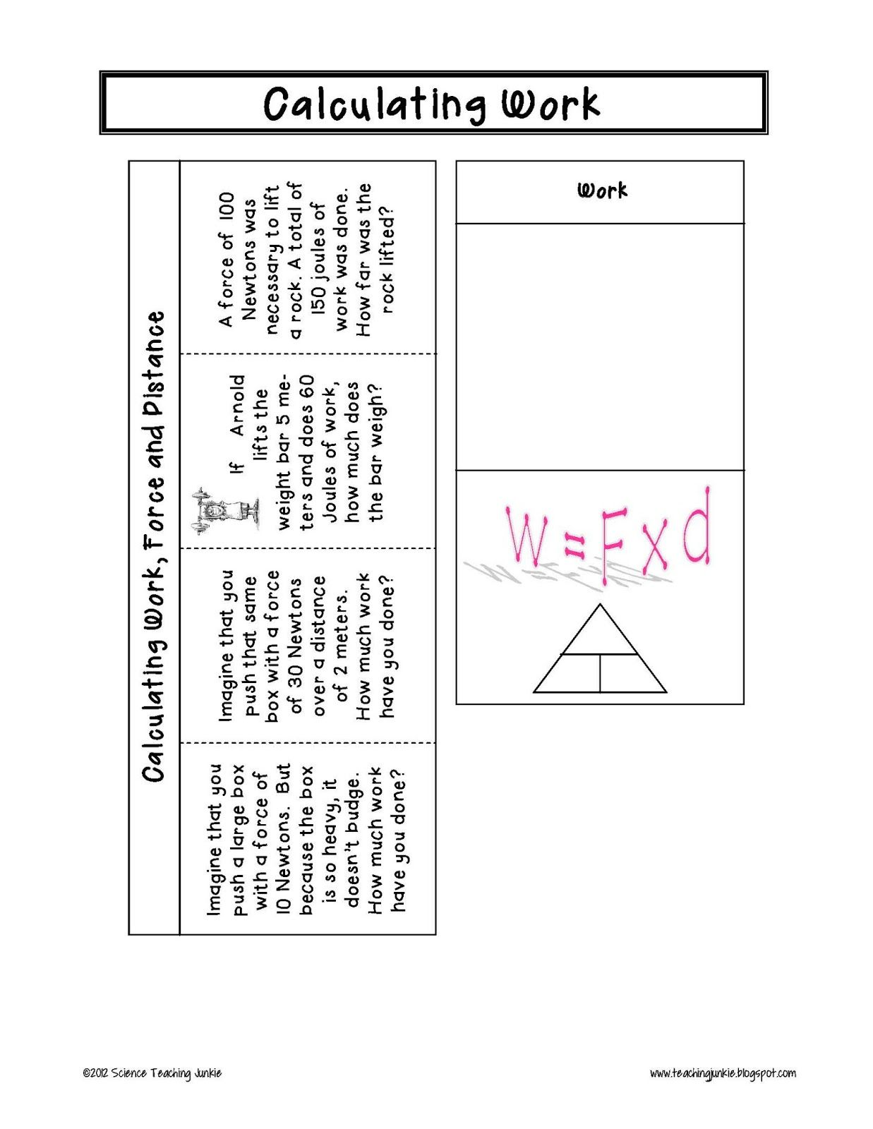 Force And Motion Foldables For Interactive Science