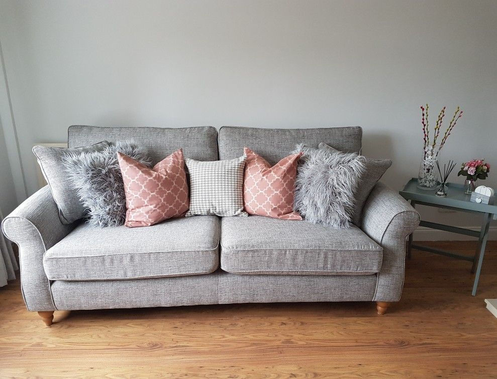 Grey Fabric Sofa Next Difference Between Couch Davenport Ashford In Boucle Weave Light Dove From Myfirsthome Journey Instagram Account Nextsofa