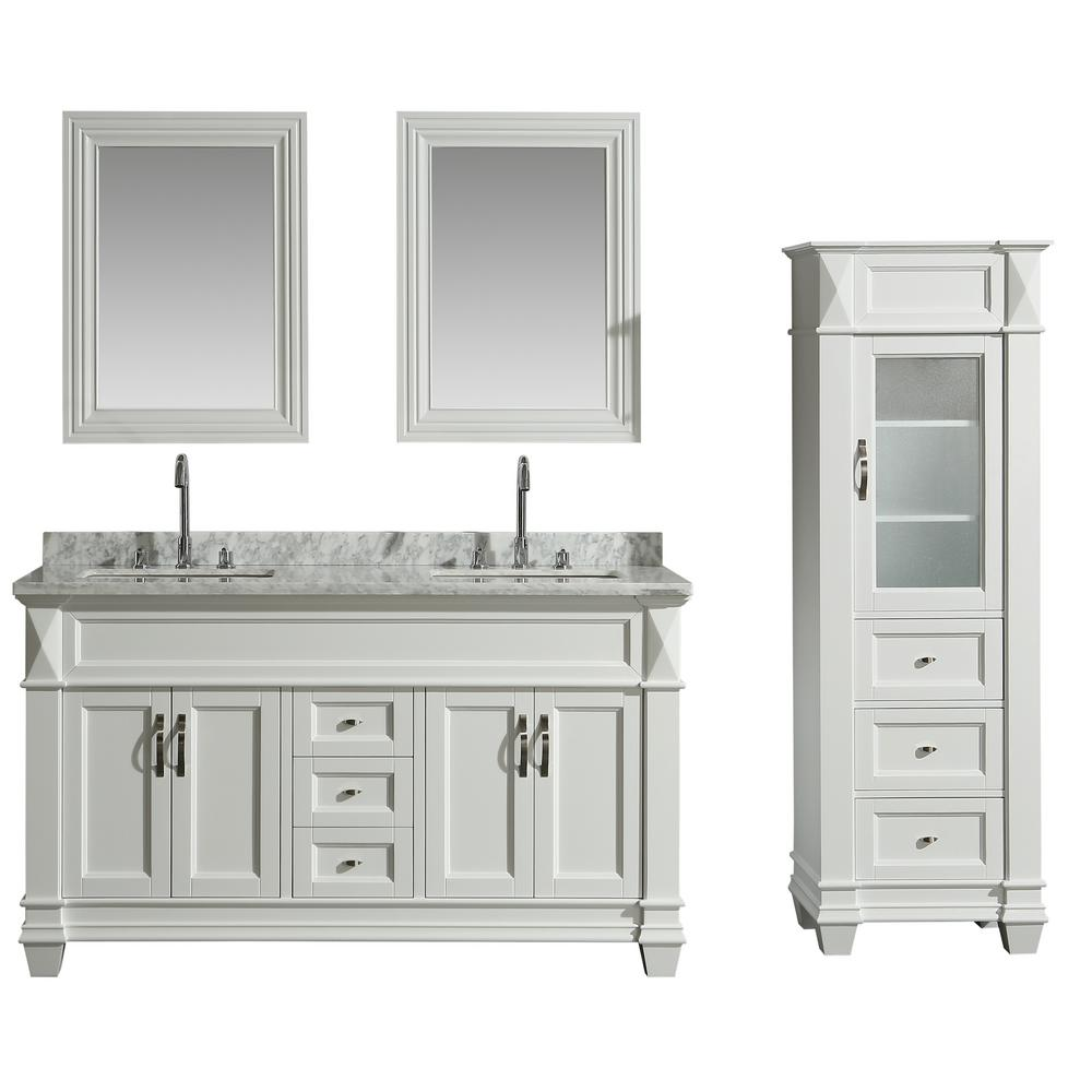 Design Element 61 In W X 22 In D Bath Vanity In White With