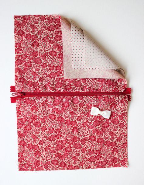 DIY pas à pas : jolie pochette en tissu