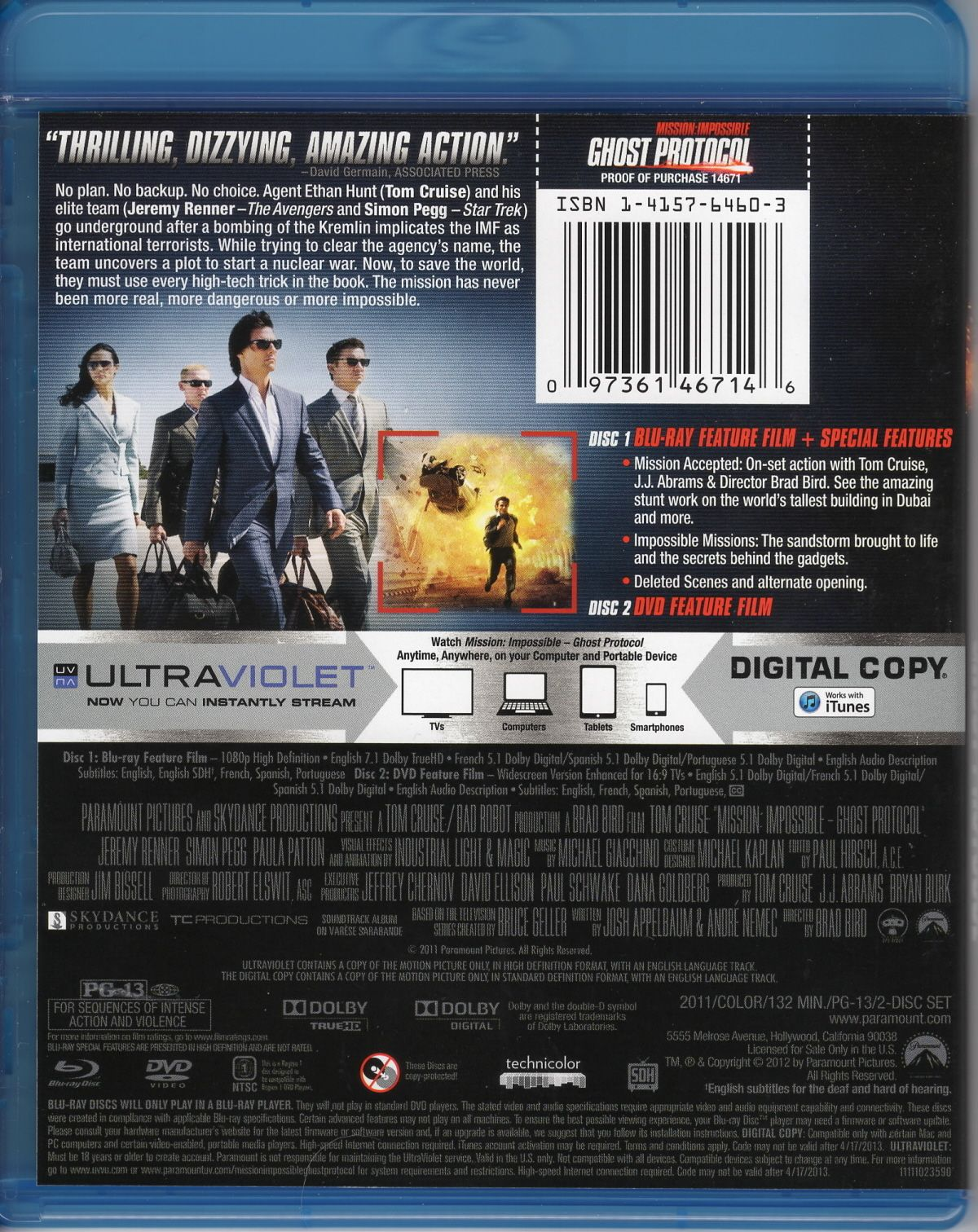 Mission Impossible Ghost Protocol Blu Ray Ghost Protocol Movie Covers Mission