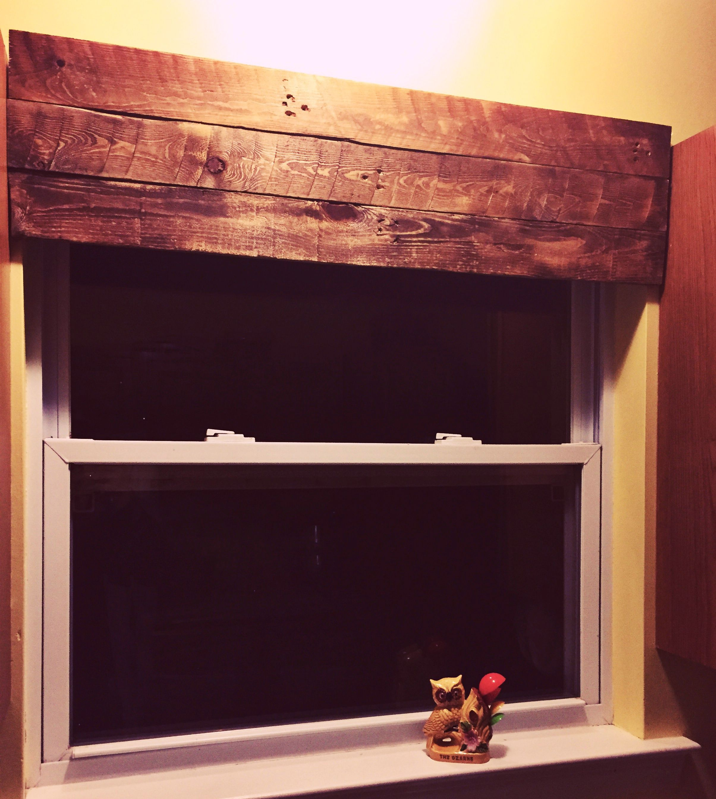 Pallet Wood For A Window Valance 2nd Start Wooden