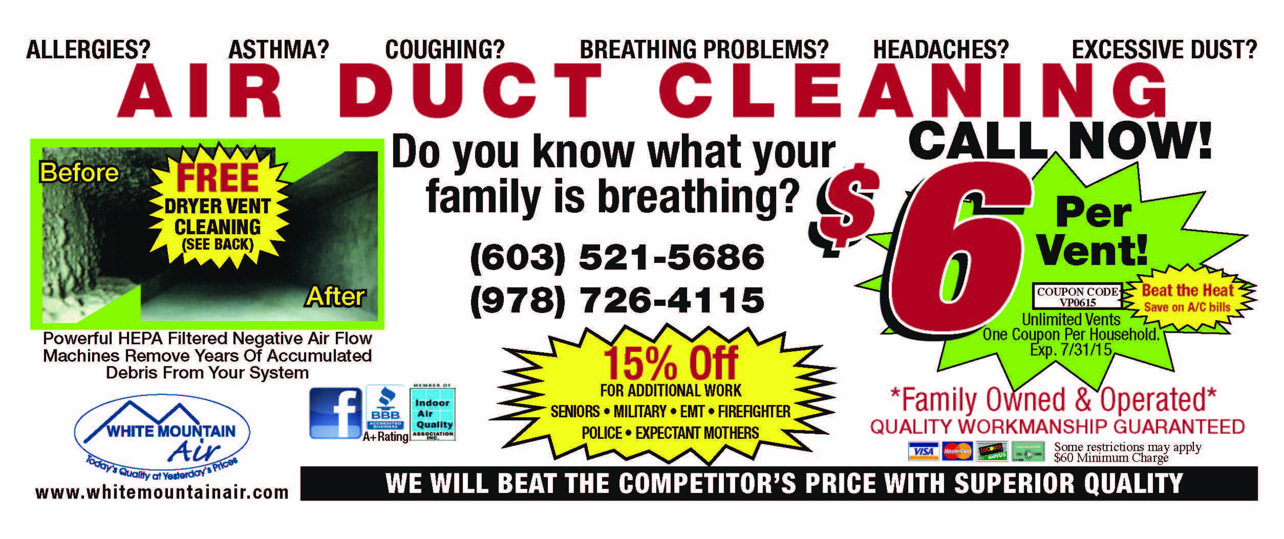 White Mountain Air. air duct cleaning specials rochester