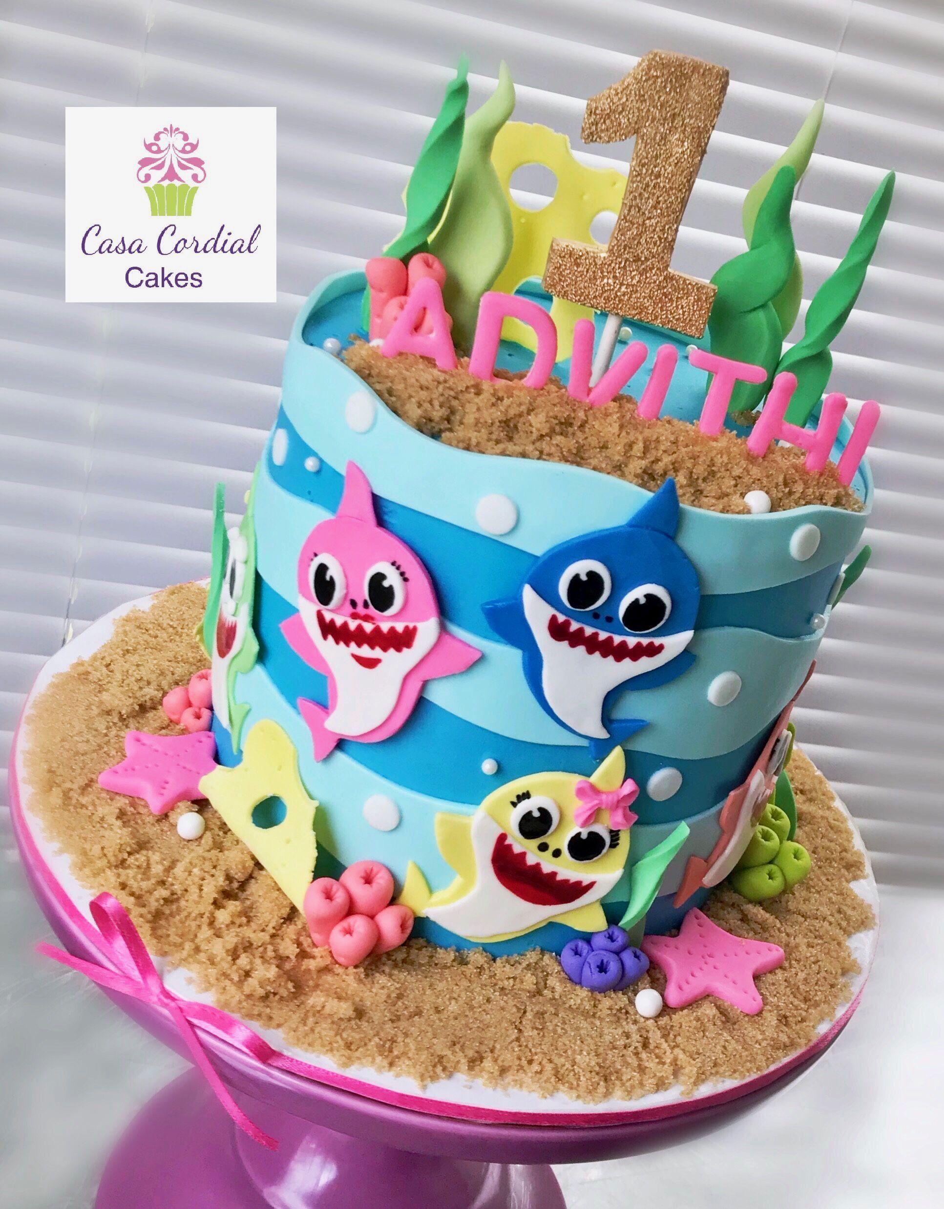 Baby Shark Cake Shark Birthday Cakes Shark Themed Birthday