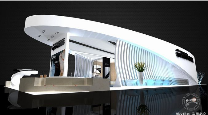 Expo Stands Interior Office 2016 : Area mm render scene with dmax and vray