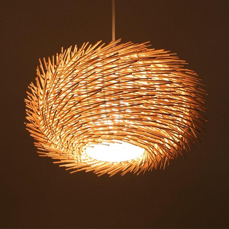 ペンダントライト 竹製照明器具 和風照明 天井照明 3灯 照明