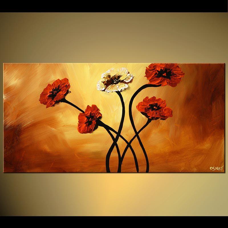 large red flowers home decor floral | Osnat Fine Art | Pinterest ...