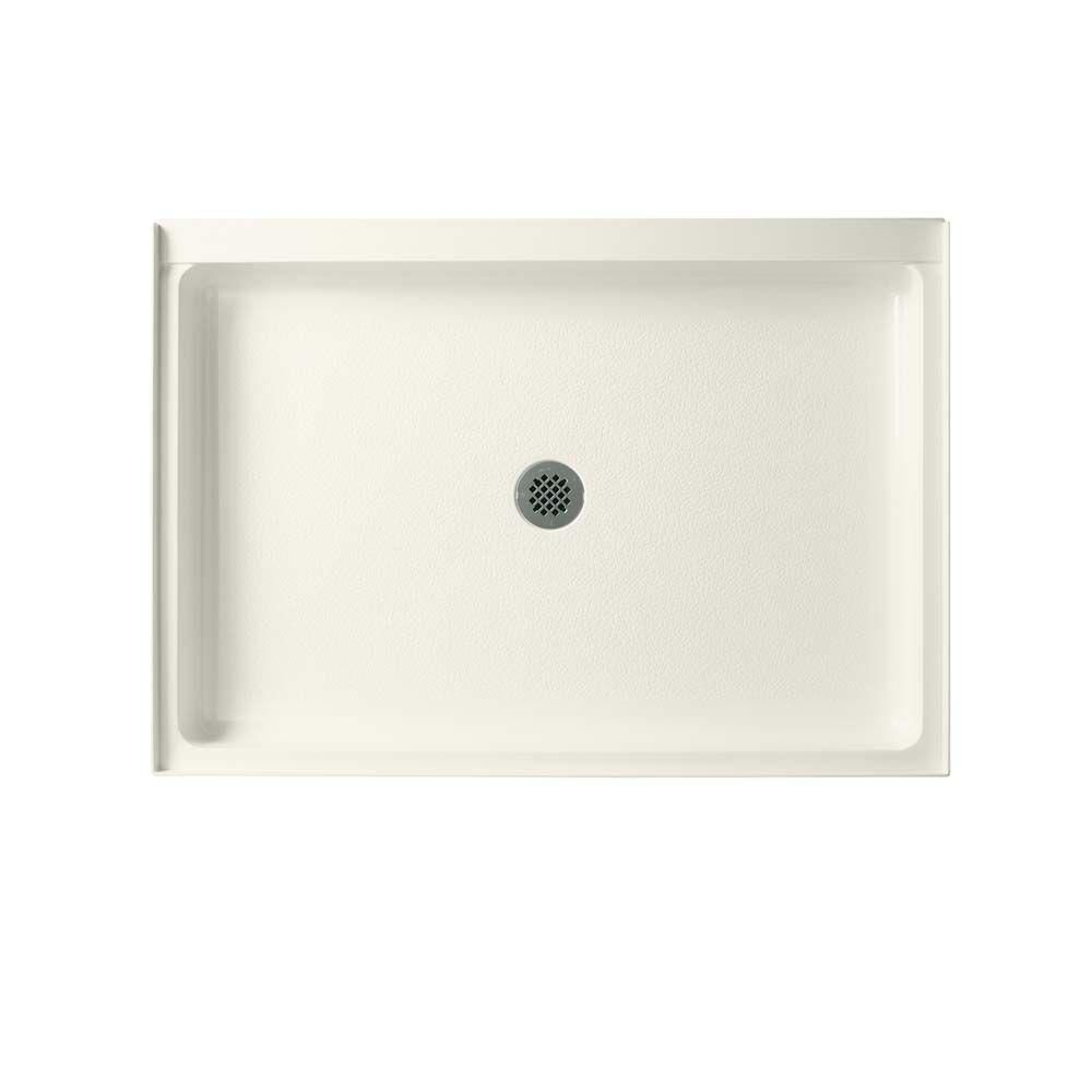 Swan 34 In X 48 In Solid Surface Single Threshold Center Drain