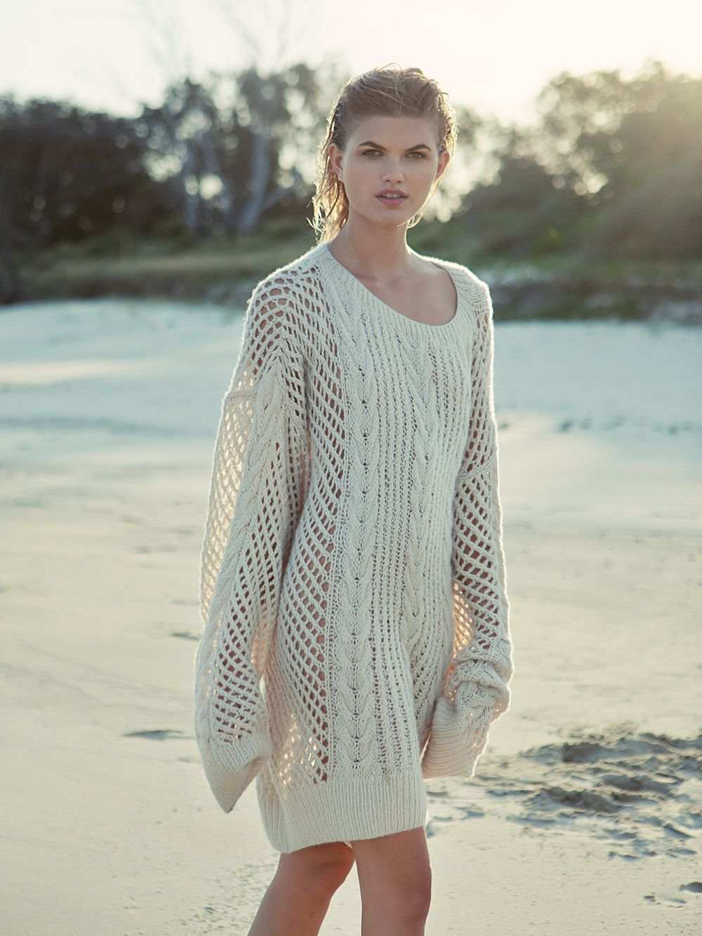 Sybil Steel, Photographer, Louise Mikkelson, Model, Oversized Knit ...