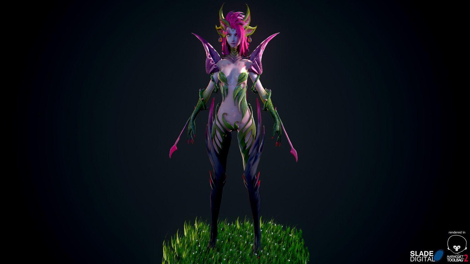 Zyra Rise of Thorns, Slade Digital on ArtStation at https://www.artstation.com/artwork/zyra-rise-of-thorns
