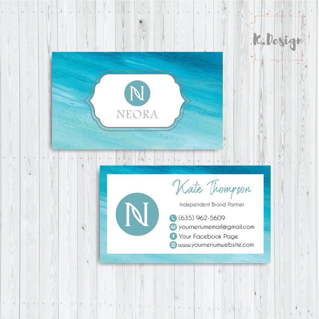 Neora Business Cards Personalized Neora Template Ne17 In 2020 Custom Business Cards Arbonne Business Cards Personal Cards