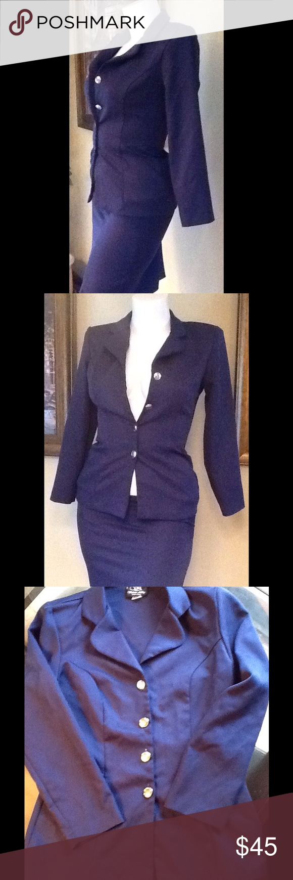 Pc navy blue ladies suit pc navy blue ladies suit comes with