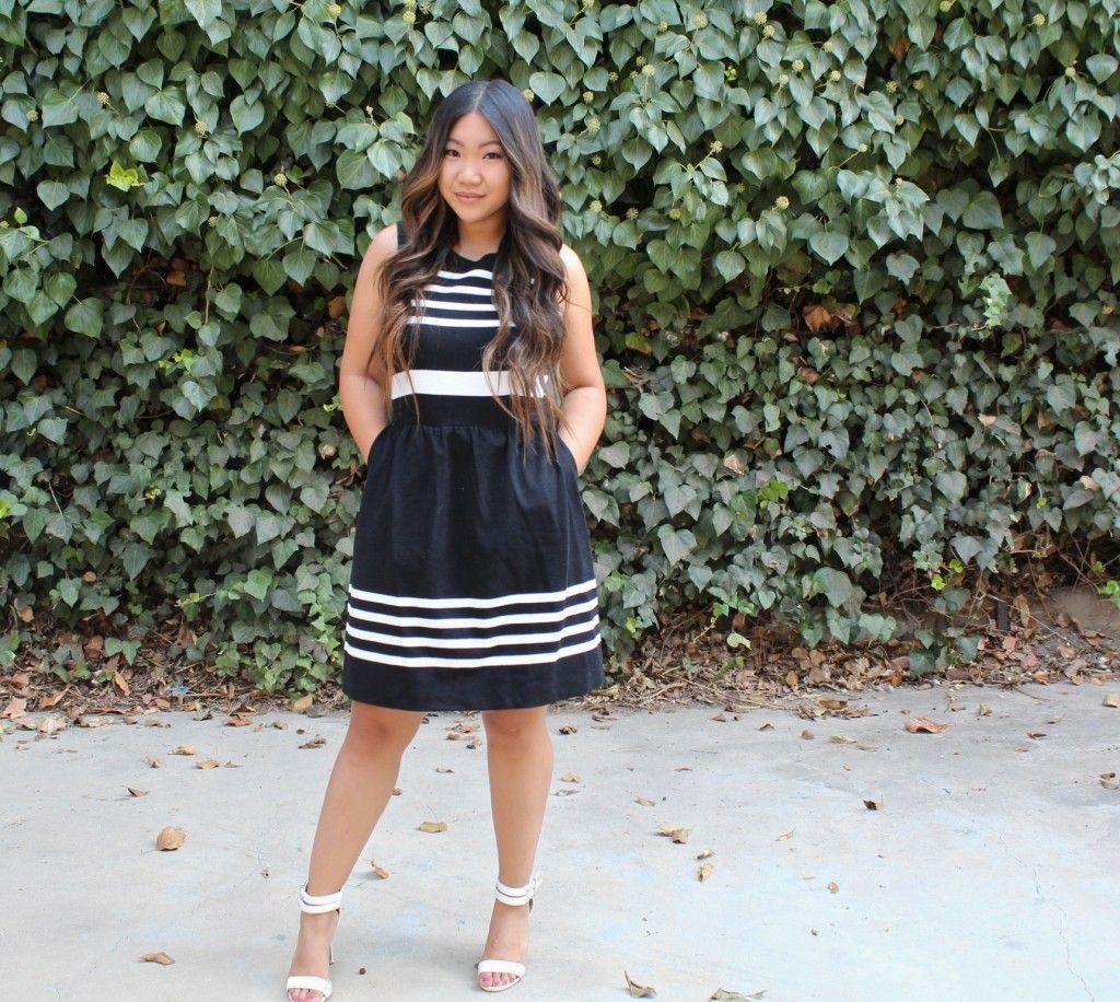 Jcrew Factory Striped Daybreak Dress Modest Outfits Modest Church Outfits Dresses [ 916 x 1024 Pixel ]