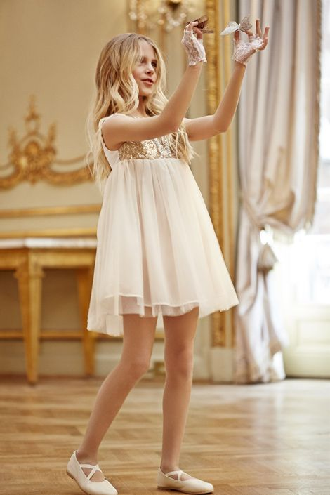 Moda infantil vestidos de fiesta