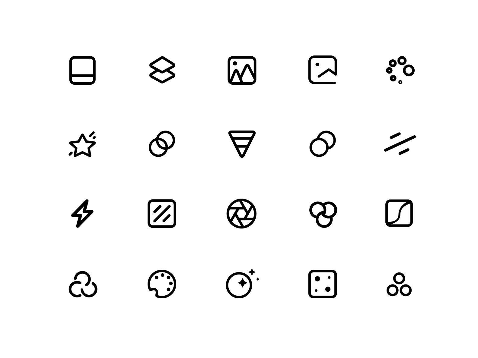 Filter Icon Exploration For Instasize App App Icon Design Icon App