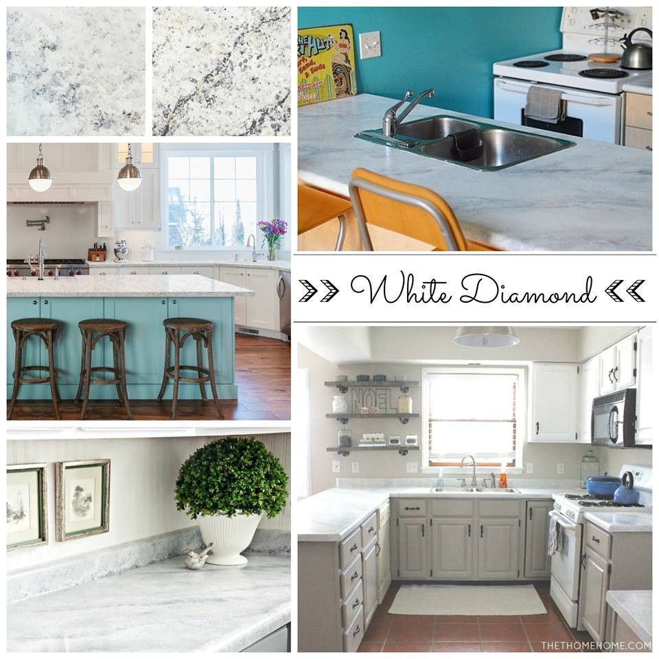 Shh.. it\'s not marble, it\'s PAINT! Easy & affordable DIY countertop ...