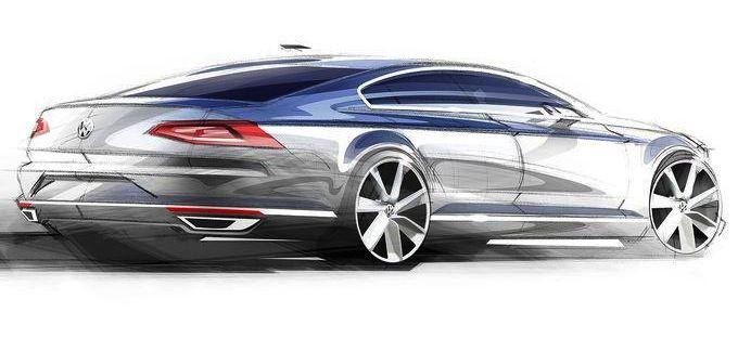 2015 Volkswagen Passat Sketches Released Volkswagen Vw Passat Voiture