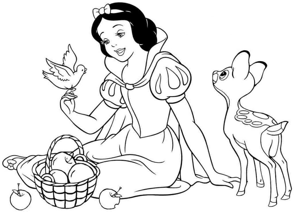 Snow White Coloring Pages Coloring Pages Kids Snow