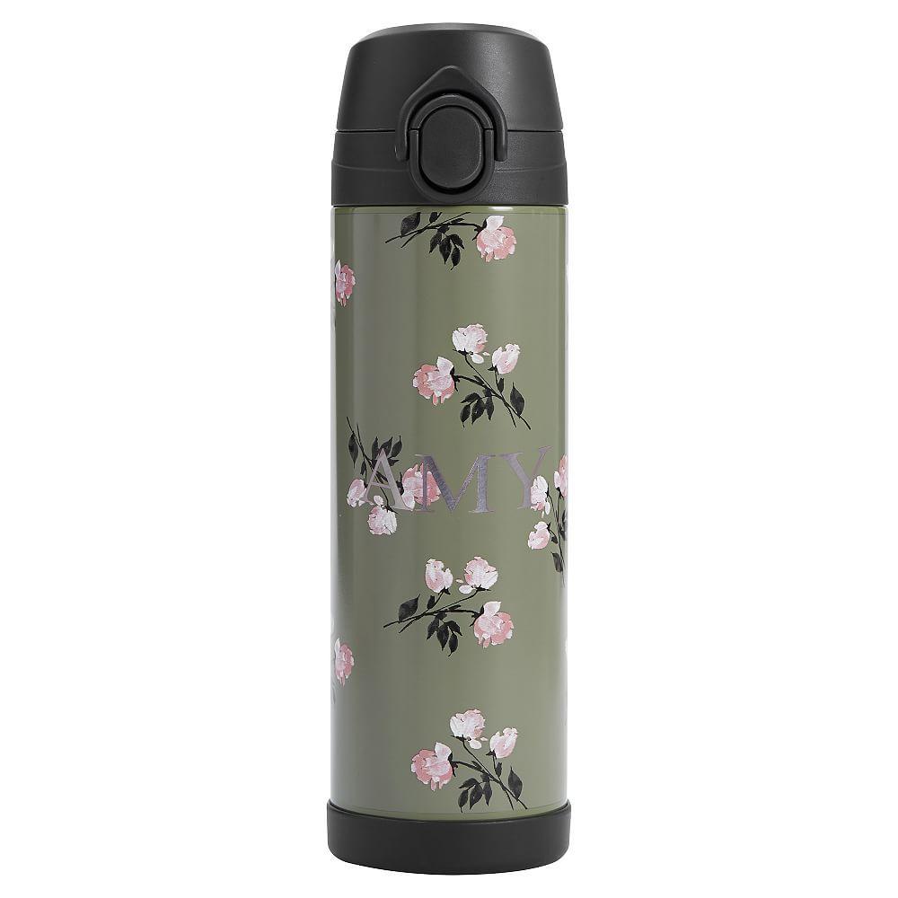 The Emily Amp Meritt Olive Floral 17 Oz Water Bottle