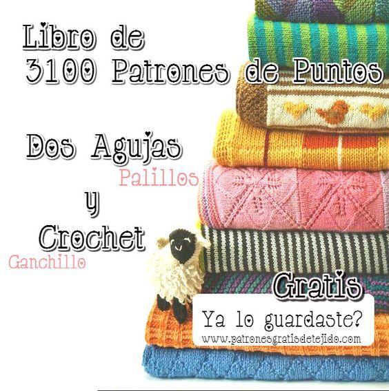Descarga gratis libro de 3100 patrones tricot y ganchillo: | Crochet ...