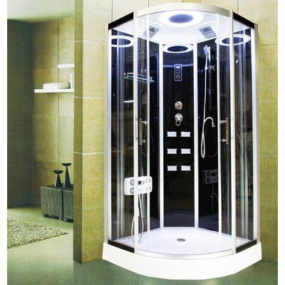 Royal Home Showers 40 X 86 Round Sliding Shower Enclosure With Base Included Frame Finish In 2020 Shower Enclosure Shower Enclosure Doors Frameless Shower Enclosures
