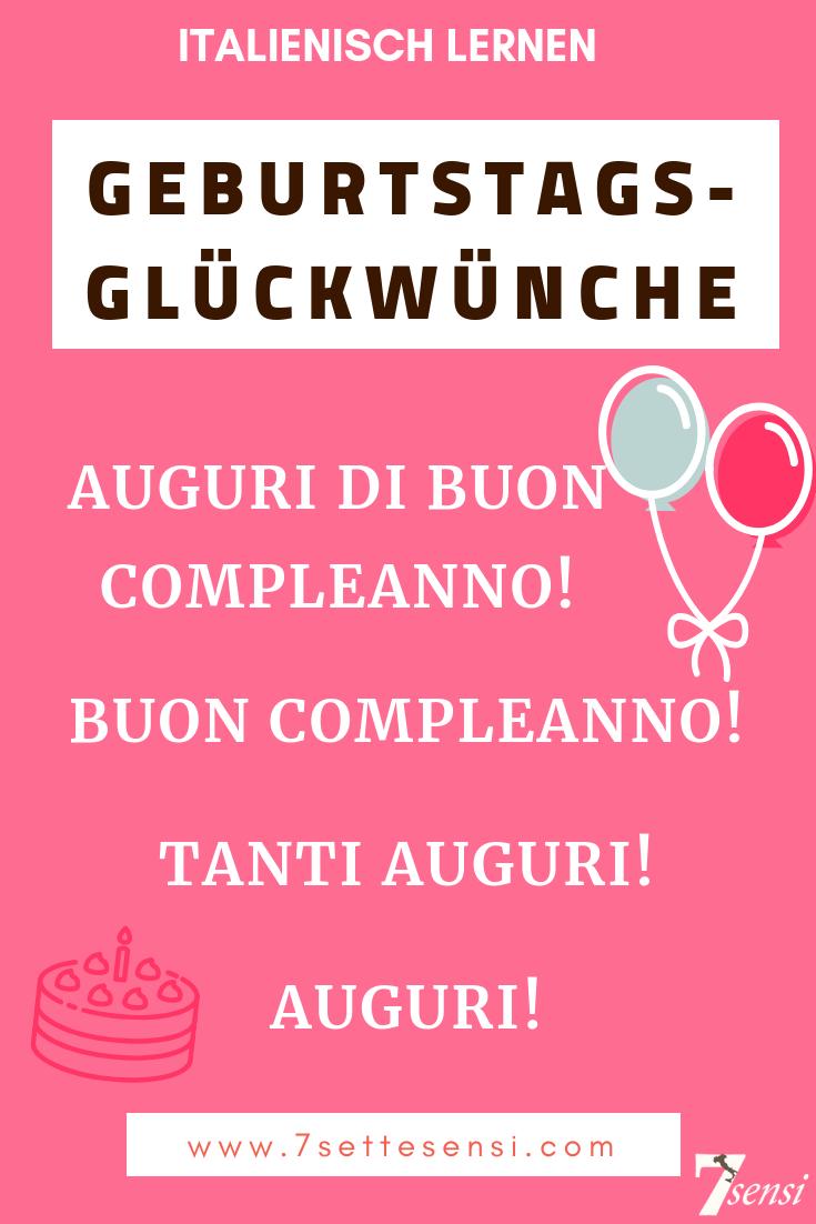 Italienisch lernen: Geburtstagsglückwünsche auf Italienisch. Mehr