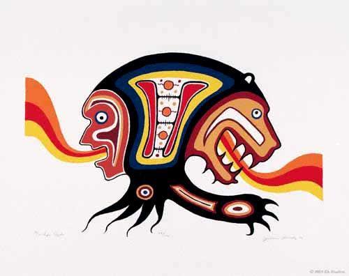 Jackson Beardy Life Cycle Native American Art Indigenous Art