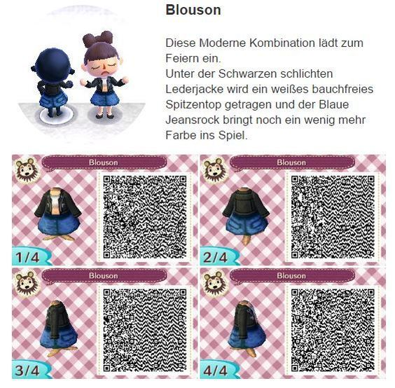 Blouson By Hanne Animal Crossing Qr Codes Clothes Animal