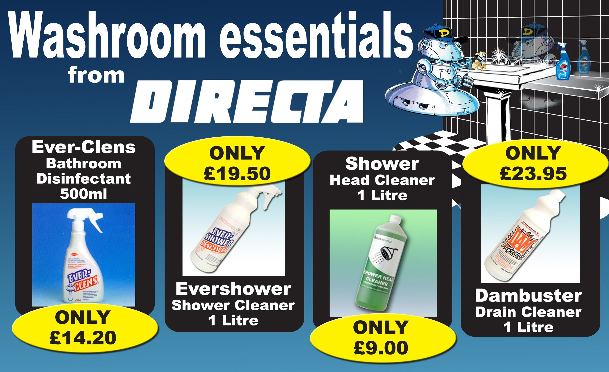 Washroom Essentials At Cheap Prices Available To Order From Http Www Directa Co Uk Drain