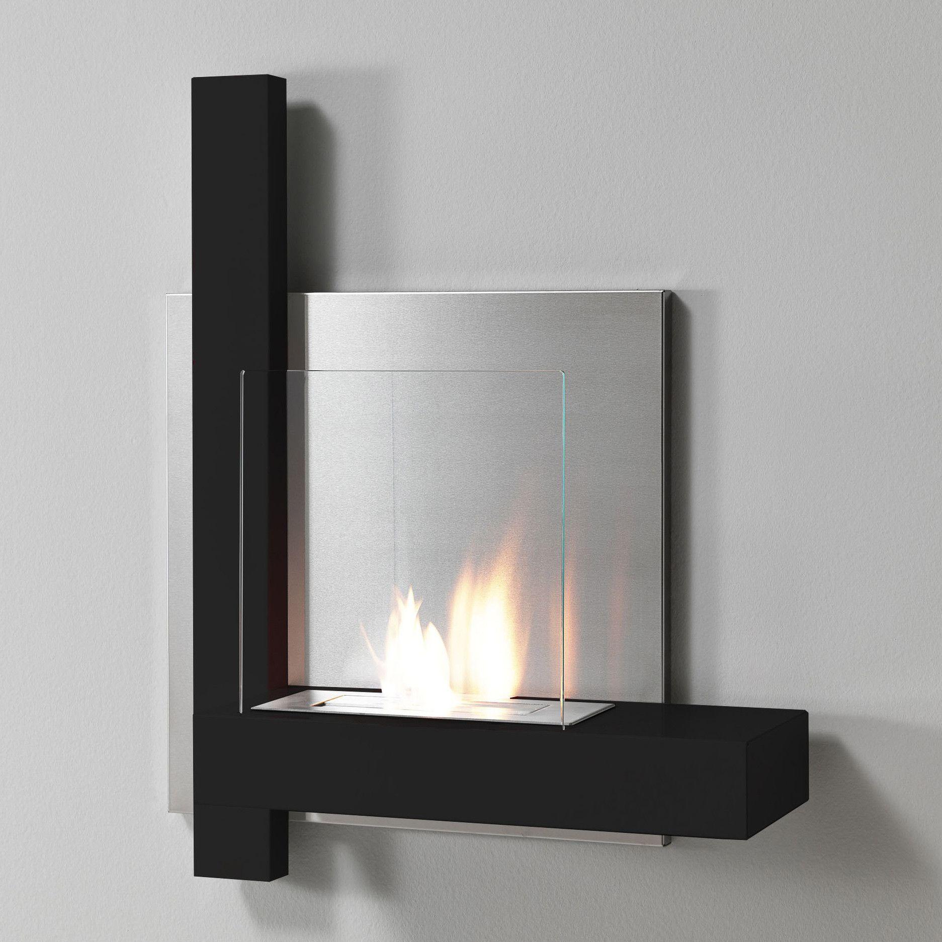 Tomasucci Mika Wall Mount Ethanol Fireplace Ethanol Fireplace Fireplace Indoor Electric Fireplace