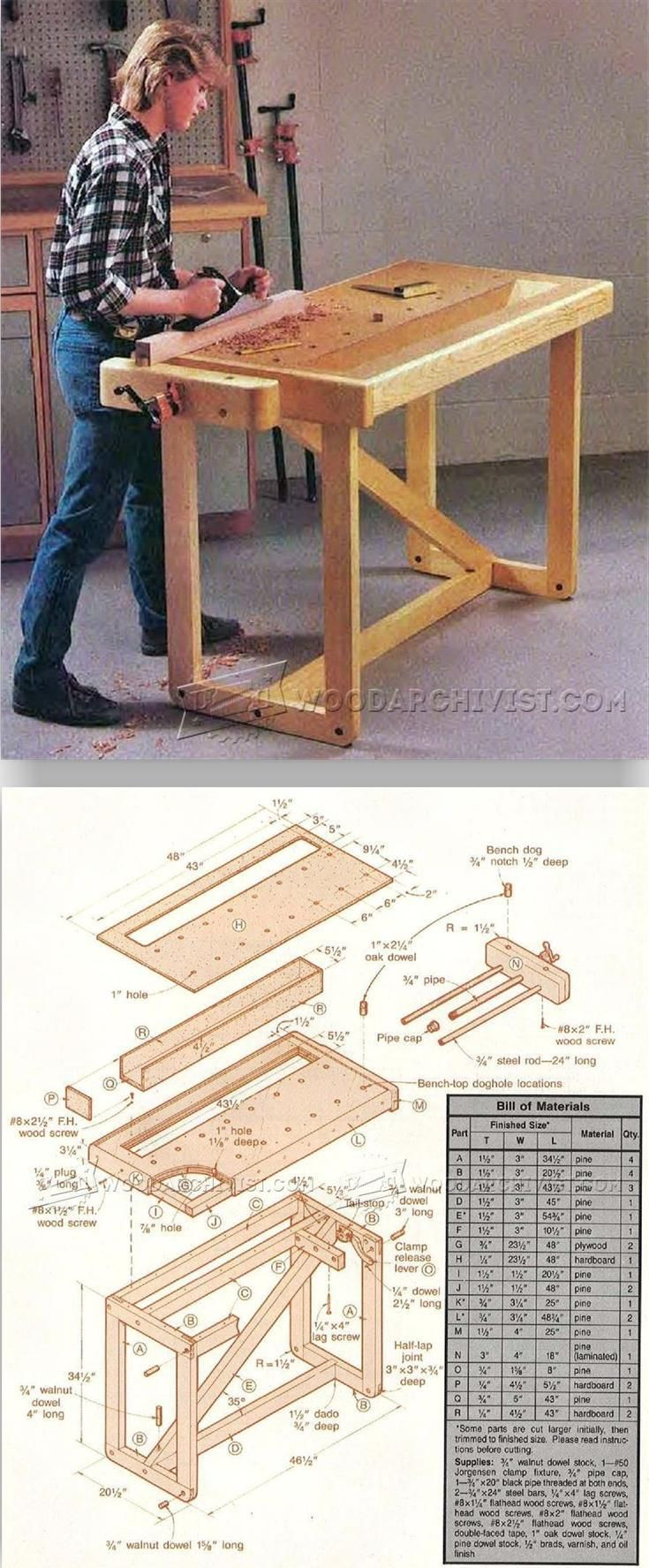 Plans One And Weekend Workshop Workbench Solutions PlansTips D2WH9EI