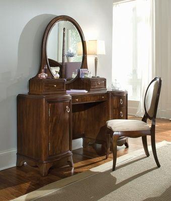 Lea Rhapsody Vanity Table With Oval Mirror And Chair 846 266 Lea Furniture Bedroom Vanity Set Bedroom Vanity Bedroom Vanity With Lights