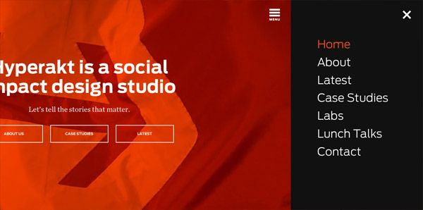 Modern Examples Of The Classic Sidebar Menu Layout Menu Layout Interactive Design Layout
