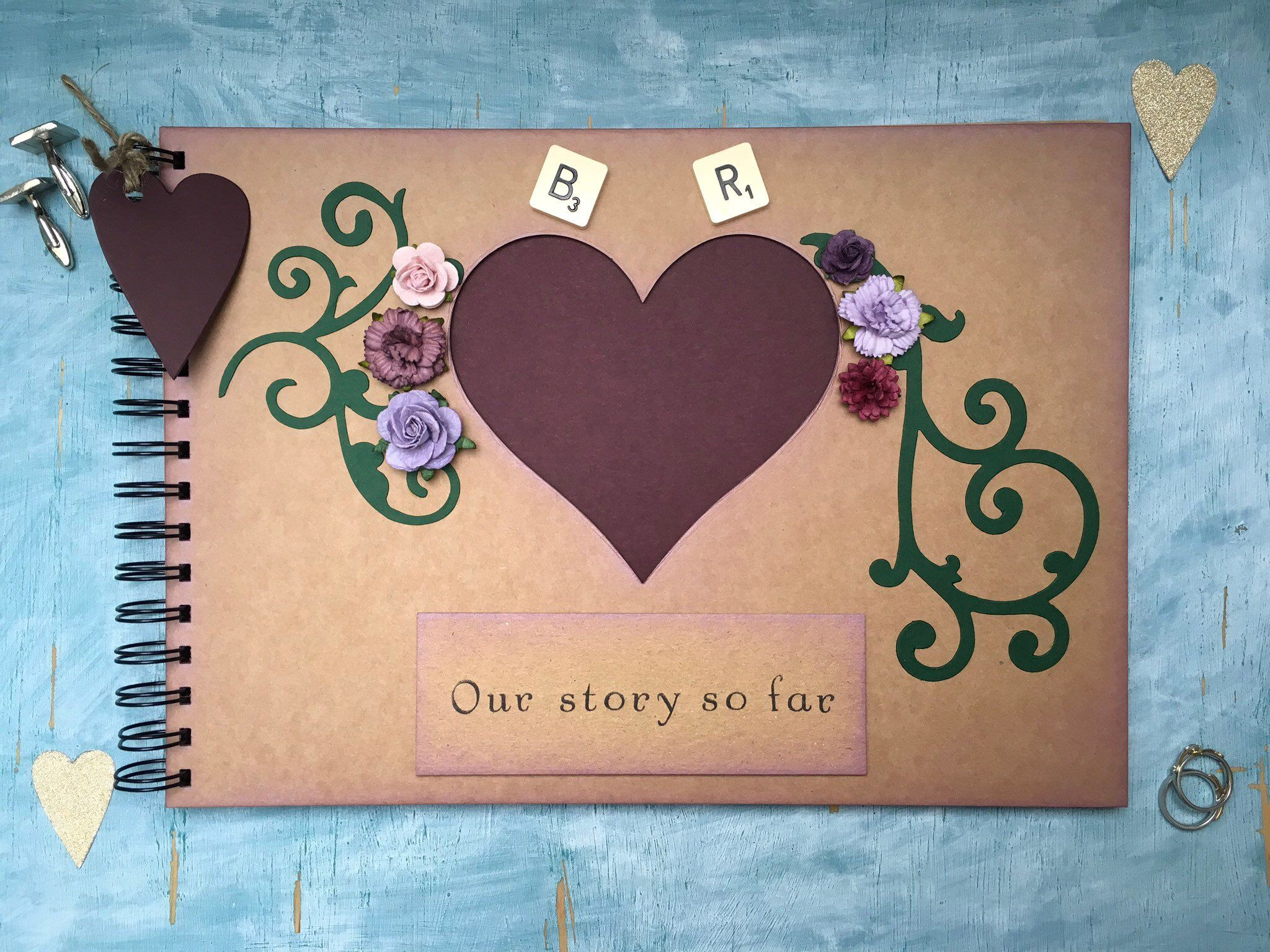 more colour options available Handmade Personalised Pet Memory Scrapbook  Photo Album  Gift  Memory Book.
