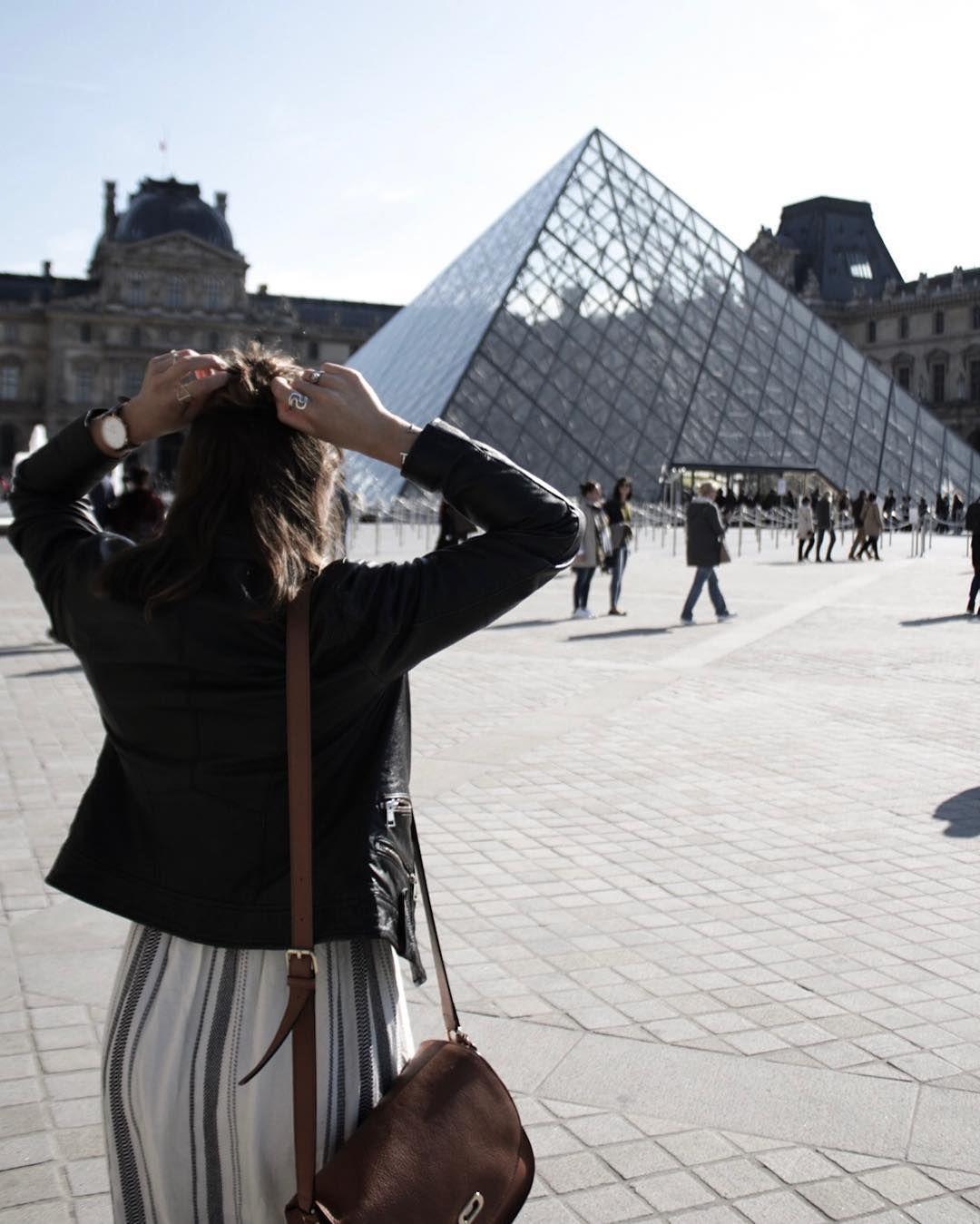 The Louvre in Paris Little Black Shell  (@karen_farber)