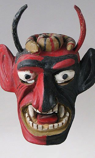 Mexican Masks - Lucifer mask from Guanajuato, Mexico