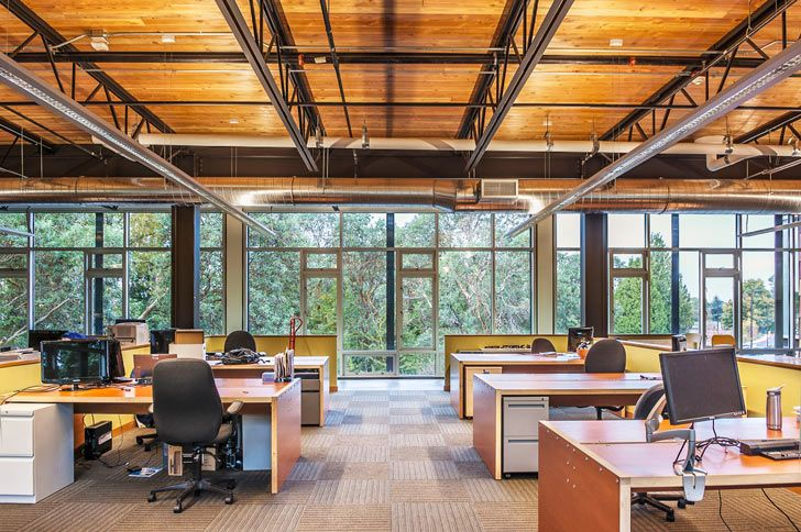 Miller Hull Designs An Airy New Salvaged Center For The Technology Access Foundation In Seattle Design Public Architecture Hull