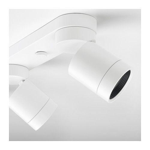 NYMÅNE Lámpara de techo con 4 focos, blanco blanco -