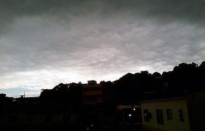 Here comes the rain...