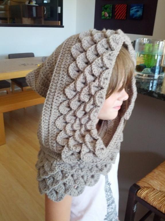 crocodile stitch scarf with hood free pattern | Crocodile Stitch ...