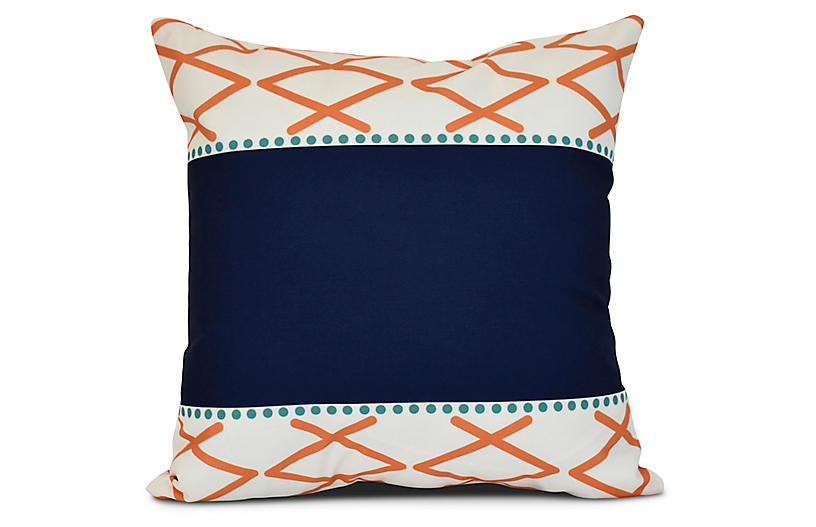 Outdoor Pillow Covers Or Indoor Custom Navy Royal Blue Etsy Outdoor Pillow Covers Outdoor Pillows Designer Throw Pillows