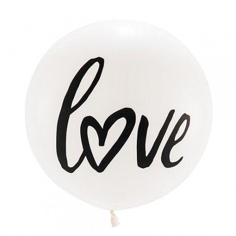"Ballon blanc ""Love"" - 91 cm"
