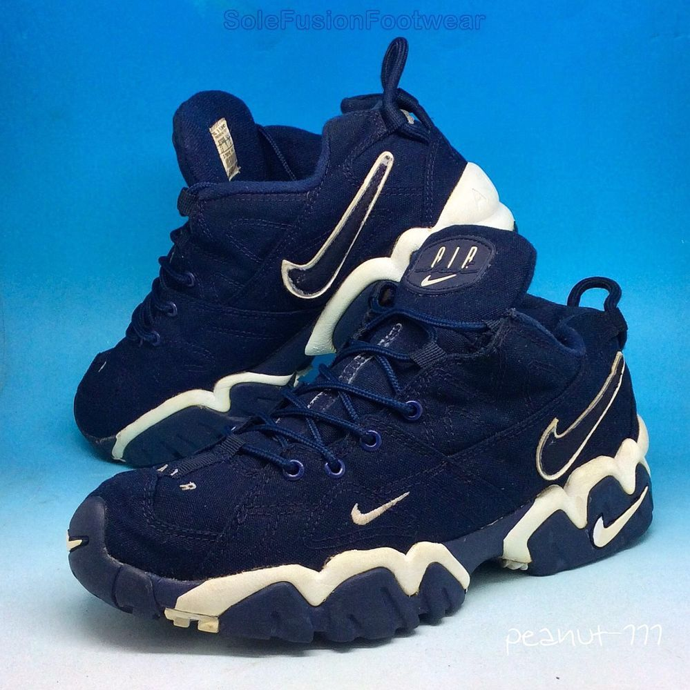 premium selection a67c6 a469d Nike Mens Air Slant Trainers Blue White sz 9 Rare VTG Canvas Sneaker US 10  EU 44   eBay